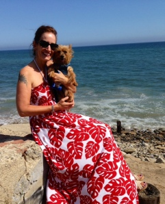 Enjoying the salty ocean breezes in Malibu after a long hot day exploring Topanga Canyon!